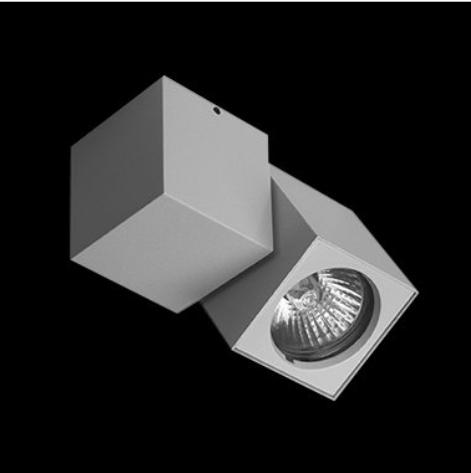 Lámpara de pared aluminio cepillado cristal esmerilado 1 x 80w r7s halógenas apto para LED